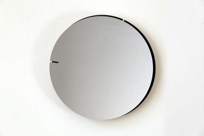 Melancholia Clock. Minimalist Wall Clock Melancholia Clock. Silver / Black