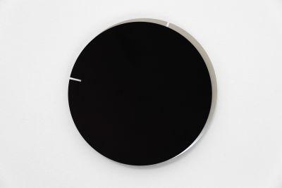 Melancholia Clock. Minimalist Wall Clock Melancholia Clock. Black / Silver
