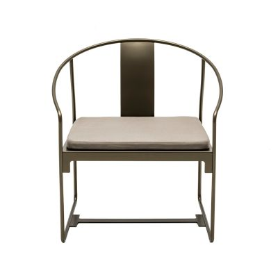MINGX - Outdoor Armchair Black, 75