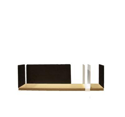 Moleskine Shelf with Sliding Element Black, White