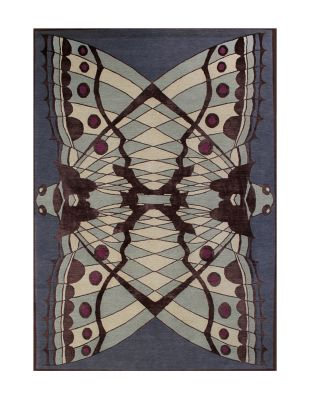 Moth Rug Multicoloured