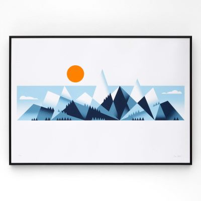 Mountains A2 Screen Print Mountains A2 Screen Print