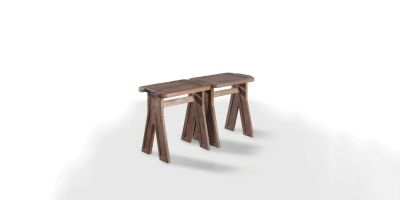 Multibanqueta Stool Walnut Natural