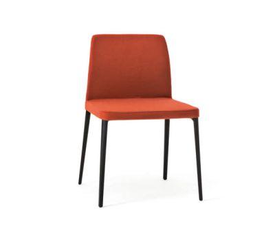 Nara Dining Chair B59 Matt Black, Tessuto Lana Melange H40 Fango