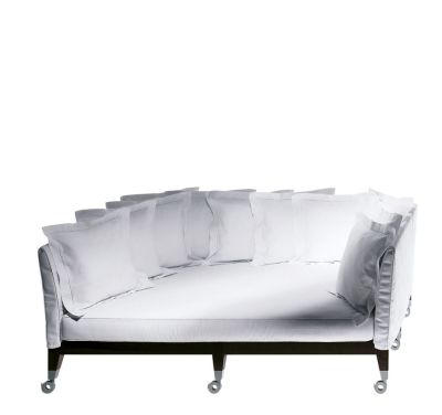 Neoz Three-Seater Deep Sofa White