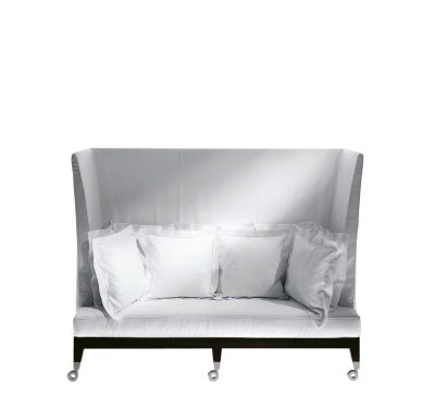 Neoz Three-Seater High Back Sofa White