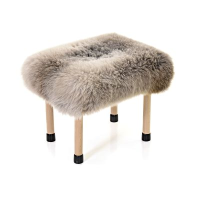 Nerys Sheepskin Footstool Rare Breed