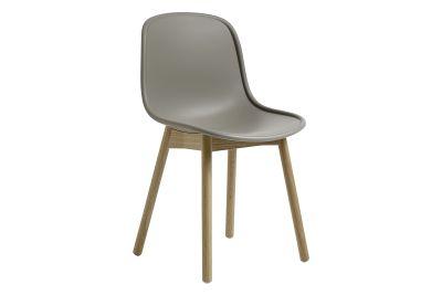 Neu13 Chair Cream white, Matt lacquered solid ash