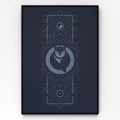 Night Owl A2 Screen Print