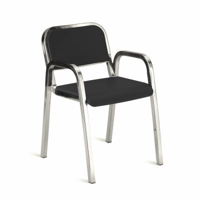 Nine-O Stacking Armchair Gray, Polished, Soft