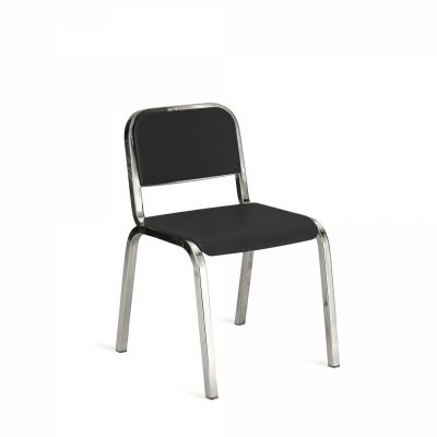 Nine-O Stacking Chair Gray, Polished, Soft