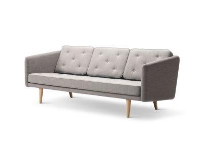 No. 1 3-seater Sofa CrissCross 1601, Mood 3101, oak lacquered base