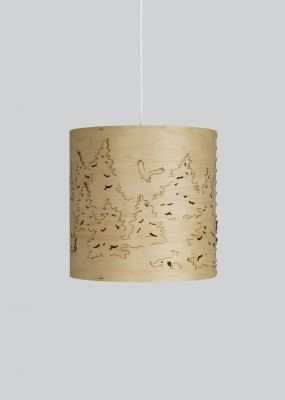 Norwegian Forest Pendant Light Natural Birch, Small