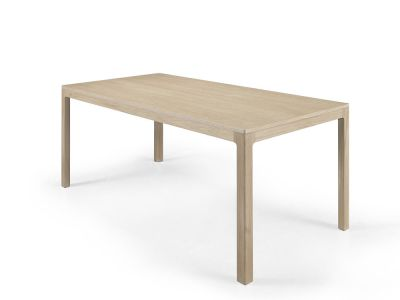 Nuda Rectangular Dining Table 180, Oak Natural