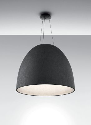 Nur Acoustic Pendant Light White/dark Grey
