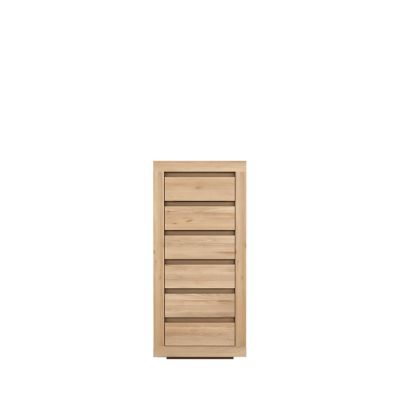 Oak Flat Chest of Drawers