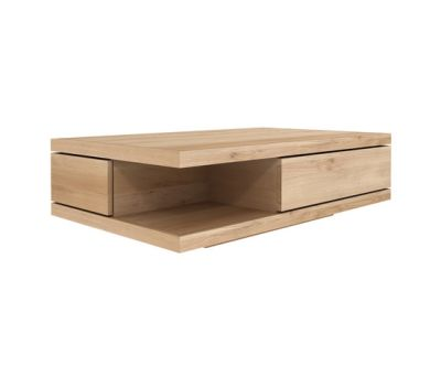 Oak Flat Coffee Table 130 x 80 x 37 cm