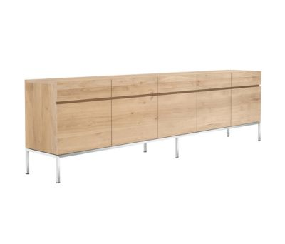 Oak Ligna Sideboard 5 doors - 5 drawers