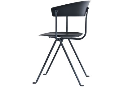 Officina Chair Painted Black, Dark Green