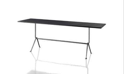 Officina Fratino Dining Table Carrara Marble White, Black, 200cm
