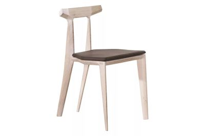 Orca Chair With Seat Pad Kenia Leather Denim, Walnut Natural