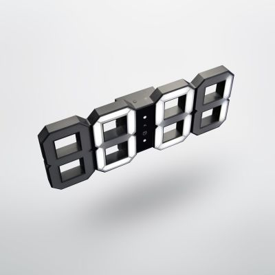 Original KIBARDIN Black & White Digital LED Clock Black & White Digital LED clock