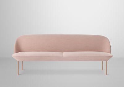 Oslo Sofa - 3 Seater Skai Parotega NF amethyst