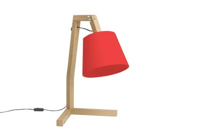 Oud S Table Lamp Red