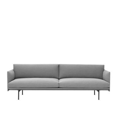 Outline Sofa - 3 Seater Elmo Soft Leather 00100