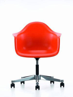 PACC Eames Plastic Armchair Without Seat Upholstery 01 basic dark, 03 castors soft - braked for hard floor