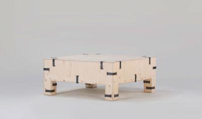 Pakiet Coffee Table Birch Plywood, Galvanized Steel Clips