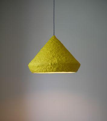 Paper pulp pendant lamp Mizuko Yellow Mizuko Yellow