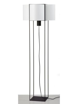 Paradice Floor Lamp White with Black Iron