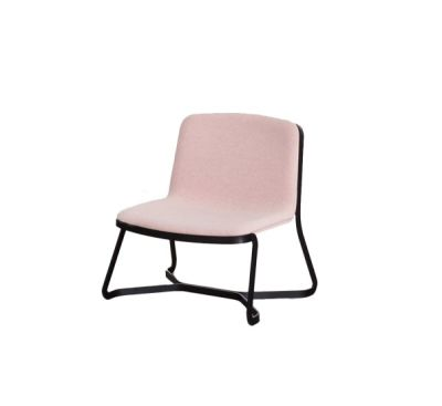 Path Lounge Chair B59 Matt Black, Tessuto Lana Melange H40 Fango