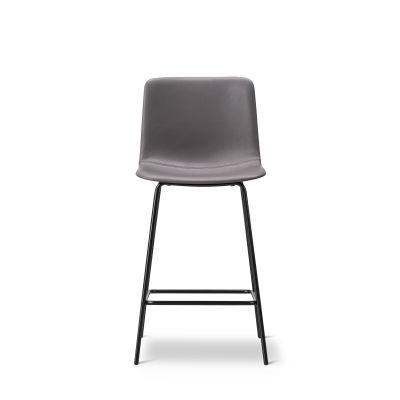Pato 4 Leg Barstool with Seat Upholstery Chrome, Quartz grey, Remix 2 143