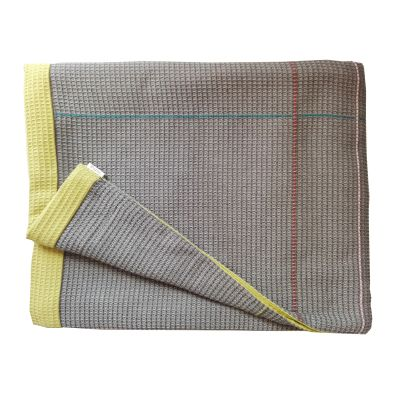 PEARSON hand embroidered taupe olive reverse throw