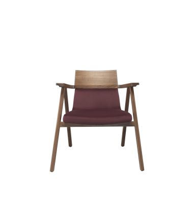Pensil Lounge Chair Oak Natural, Lana 007 Canary