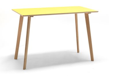 Perky Formica Table / Desk Yellow