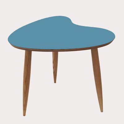 Petal Side Table Petal table in Teal