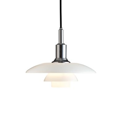 PH 3/2 Glass Pendant High Lustre Chrome Plated