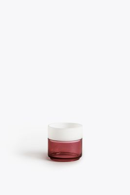 Pi-No-Pi-No Glass Rings Set Fuchsia and Opal White