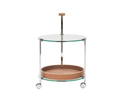 Pioneer T79 + TB Side table Walnut Tray, Stainless Steel Gloss