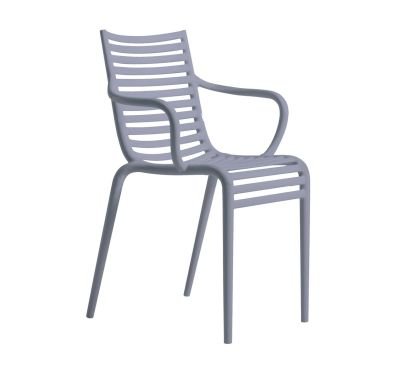 PIP-e Armchair - Set of 4 Lavender Grey