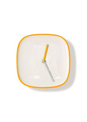 PLATE | Clock White & Orange