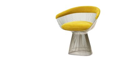 Platner Armchair Lucca Fanciulla LC2404, Polished Nickel