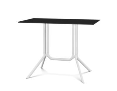 Poule Double Table, Rectangular Tip-up Top White, Black, L100 x D59 x H75