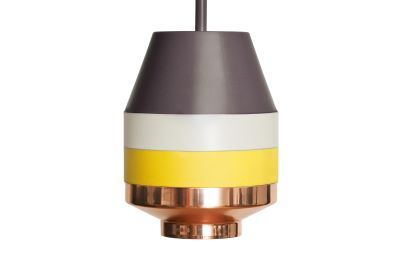 Pran Pendant Light 296 Dark Grey, White, Yellow & Copper