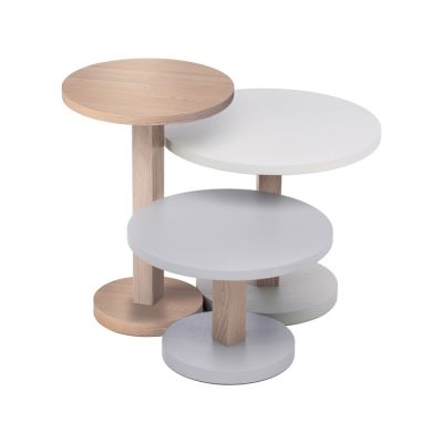 Primo set of 3 tables Latte/Light Grey/Stone Grey