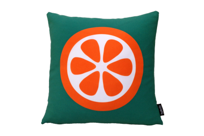 Printed Cushion Cover & Infill Pad, Orange