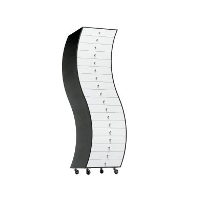 Progetti Compiuti Side 1 Curved Chest Of Drawers OP Matt Lacquer, 01 White